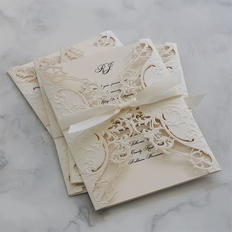 ROYAL DETAILS - LASER CUT INVITATION